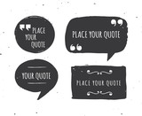 Quotes templates - hand drawn black and white set