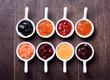 Bowls of tasty jam
