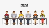 people working design
