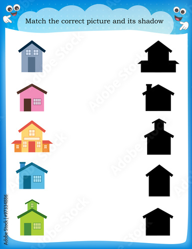 Worksheet recognizing shapes
