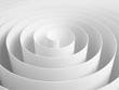 White 3d abstract spiral made of paper tape