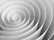 White 3d spiral made of paper with soft shadows