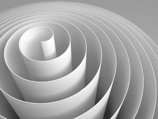 White 3d spira abstract digital illustration