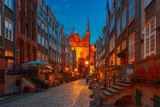 Fototapety Mariacka street in Gdansk Old Town, Poland