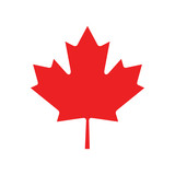 flat icon on white background Maple Leaf