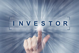 hand clicking on investor button - 97409620