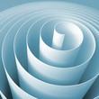 Blue 3d spiral, square abstract digital illustration
