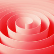 Red 3d spiral tape, abstract digital illustration