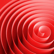 Red 3d spiral with soft shadows, abstract illustration