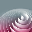 Colorful 3d spiral, abstract digital illustration, background