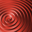 Red 3d spiral tape with soft shadows