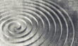 Spiral over concrete wall texture, abstract 3d