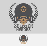 Fototapety Soldier heroes club and logo