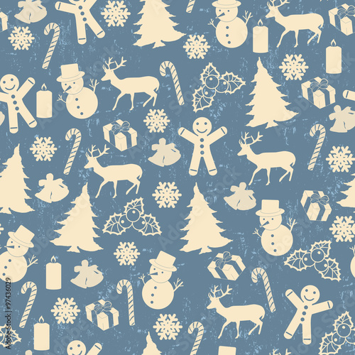 Materiał do szycia Seamless pattern for Christmas