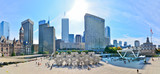 View of Toronto skyline and Nathan Phillips Square in Toronto - Fine Art prints