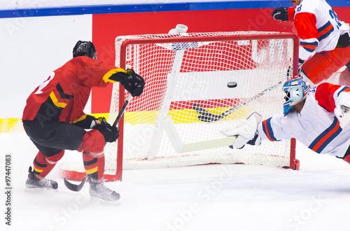 fototapeta na ścianę Hockey goal