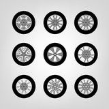 Car Wheel icons