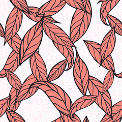 autumn leaves seamless pattern. hand drawn illustration
