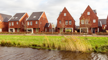 Modern suburb houses in the Netherlands