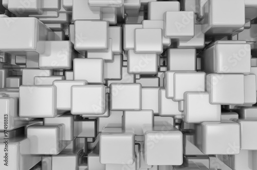 Naklejka dekoracyjna Abstract metallic cubes background