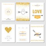 Set of Love Cards - Wedding, Valentine