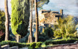 Bomarzo -scenic medieval villages of Italy, artwork in painting style