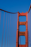 Close-up of the south tower of the Golden Gate Bridge in San Francisco - 97528610