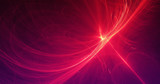 Abstract Background Lines Curves And Particles Red Yellow