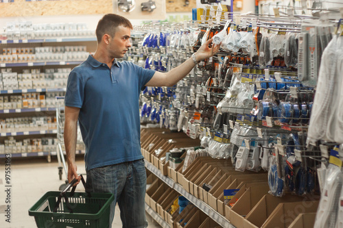 Man in a hardware store.