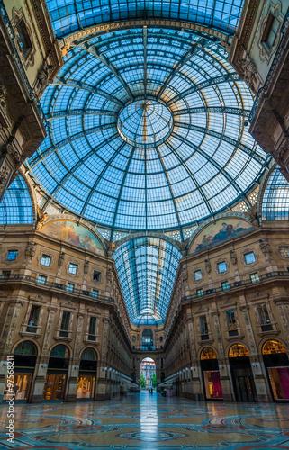 Foto op Canvas Milan Galleria Vittorio Emanuele II, Milan, Italy