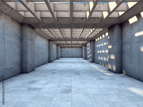Long tunnel of concrete