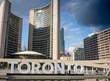 Toronto city hall against sky, Toronto, Ontario, Canada