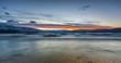 Winter Sunset at Lake Shore