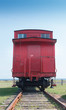 Historic Canadian national railway caboose, Prince Edward Island, Canada