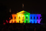 The White House Lit in Rainbow Colors