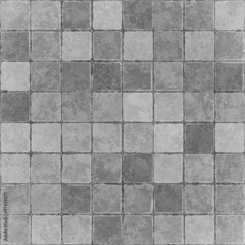 Texture of tile seamless background - 97636671