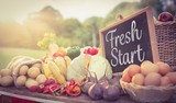 Composite image of fresh start
