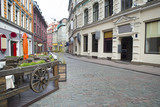 Fototapety Empty streets of Riga old town.