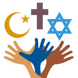 mír a dialog mezi náboženstvími křesťanských symbolů a žid