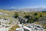 Karstic rocky beds on mountain Dinara in Croatia