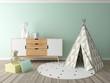 boy room interior, playroom, children room