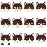 いろんな表情の猫 サイン 顔文字