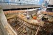 Construction site in London near Waterloo Railway Station