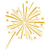 Fototapety Elegant firework vector illustration on white background.