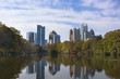 Midtown Atlanta, Georgia Skyline Over Water