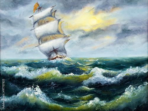 Ship in ocean