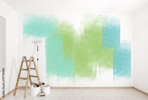 malarz akcesoria kolorowe ściany