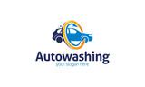 Fototapety Auto Washing Logo