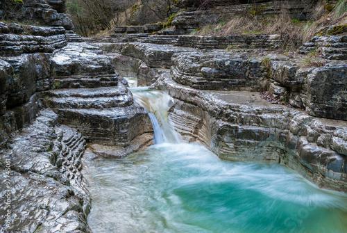 Zdjęcia na płótnie, fototapety, obrazy : Rock formations near the village of Papingo in Epirus, Greece