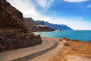 Wybrzeże wyspa Teneryfa - Hiszpania kanarek